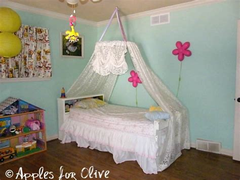 diy princess bed diy hula hoop canopy apples for olive