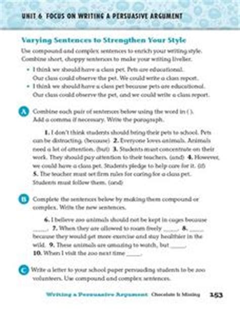 varying sentences worksheet focus on writing a persuasive argument varying sentences 4th 6th grade worksheet lesson planet