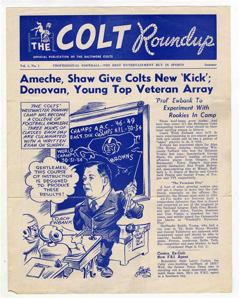 baltimore volume 8 the lot detail baltimore colts 1955 the colt roundup