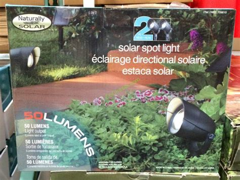 costco outdoor solar garden lights spot lights led solar by naturally solar 2 pack costcochaser