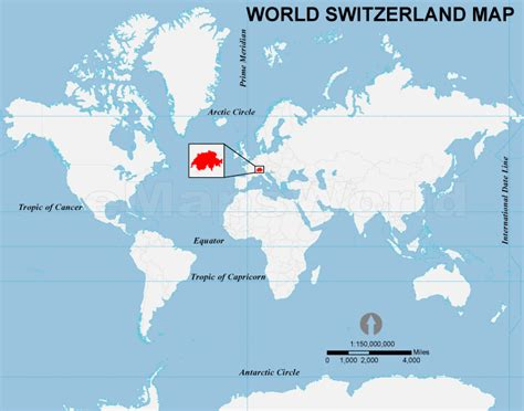 switzerland map in world map switzerland location map location map of switzerland