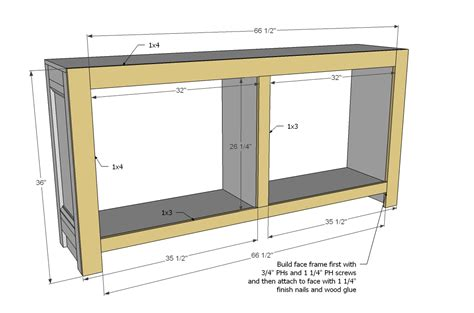 how to make a buffet cabinet wooden diy sideboard plans pdf plans