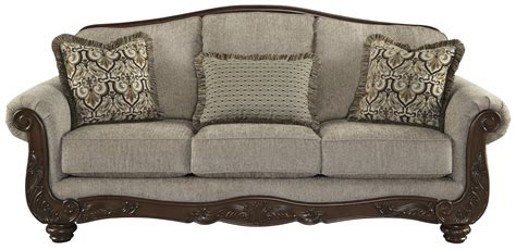 traditional settee signature design by ashley cecilyn traditional sofa with