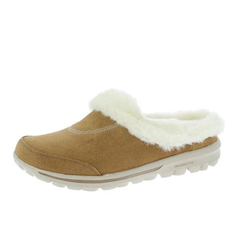 skechers house shoes skechers slippers go walk cozy 13660 chestnut free uk delivery