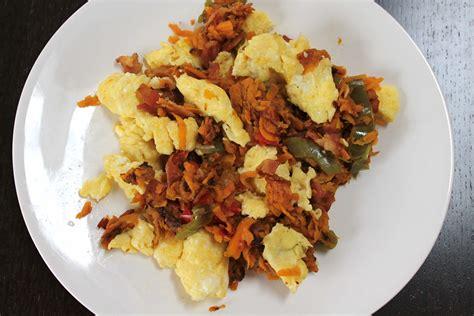 paleo sweet potato scramble smile sandwich