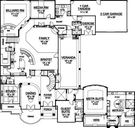 monster house plans european house plan 4 bedrooms 5 bath 6956 sq ft plan