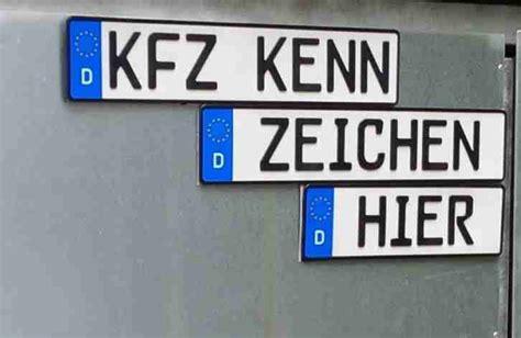 Kennzeichen Auto Kaufen by Kfz Kennzeichen Kunststoffkennzeichen Auto4me