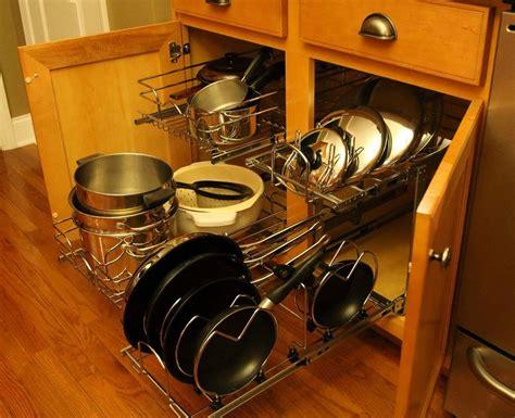 pots and pans organizer ideas home design ideas