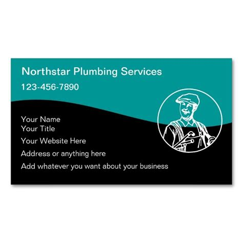 Whatever You Want Card Template by Plumber Business Cards Make Your Own Business Card With