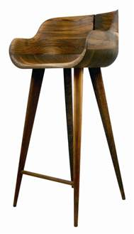 walnut counter stool so sleek for the home
