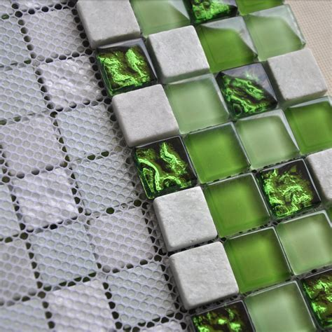 green mosaic tiles bathroom ice crack glass mosaic tile kitchen backsplash wall stone