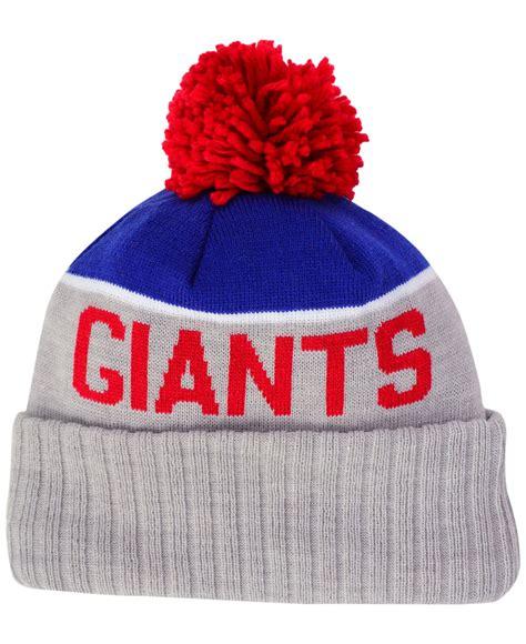 new york giants knit hat ktz new york giants bowl sport knit hat in blue for