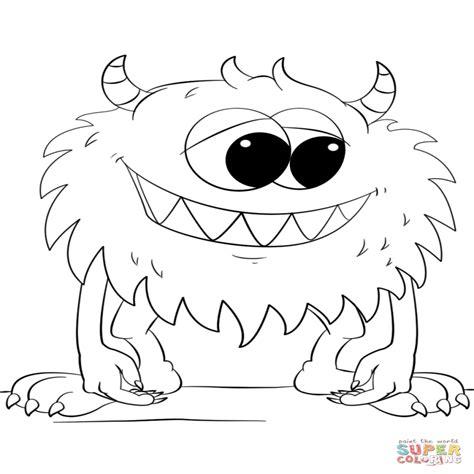 dibujos para colorear animados dibujo de monstruo lindo de dibujos animados para colorear