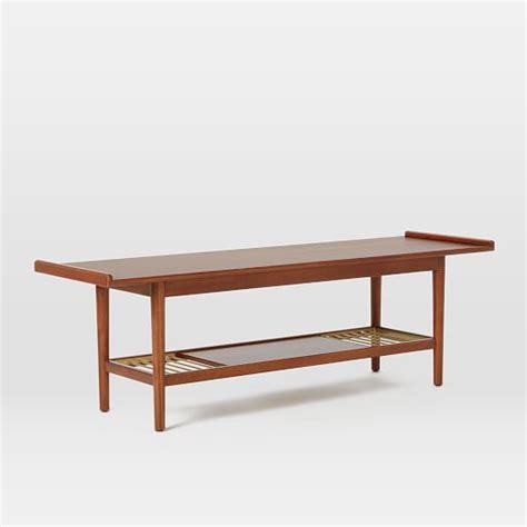 mid century slat bench mid century metal slat bench west elm