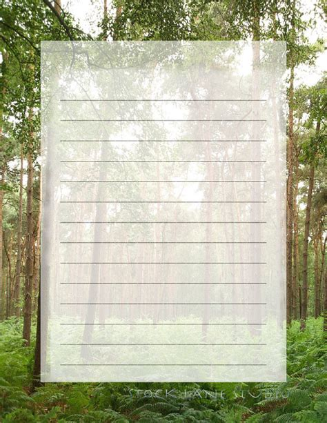 lined paper with spring border 7 best images of printable stationery unlined for spring