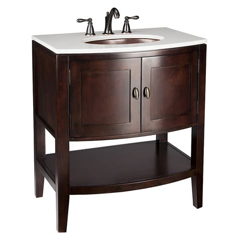 Vanities Lowes by Shop Allen Roth Renovations Merlot Undermount Single