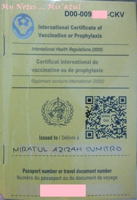 apa saja syarat membuat kartu kuning cara mendapatkan kartu kuning hasil vaksinasi meningitis