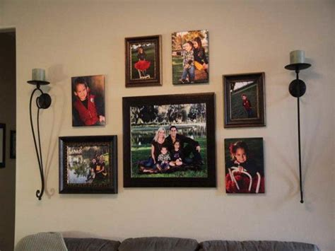 how to hang family photos on wall decorating - How To Hang Family Photos