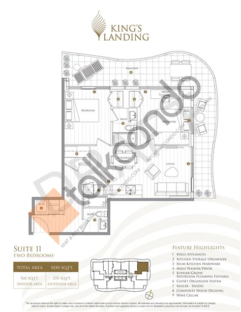 10 Landing Floor Plan - king s landing condos suite 340 crescent collection