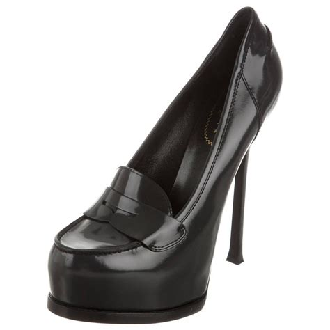 loafer high heels yves laurent new tribute leather loafer high