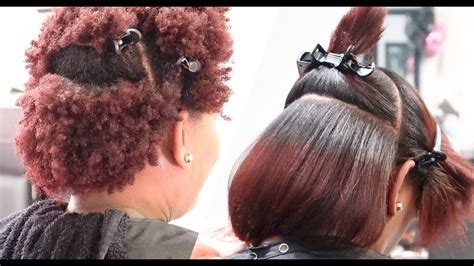 picsy hair silk press on 4z natural hair lol salonwork picsy buzz