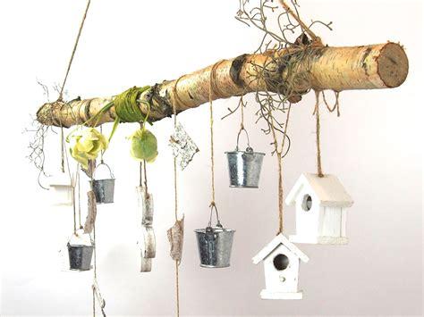 Deko Ast Holz by Creatina Ast Aus Birkenholz Zum Aufh 228 Ngen Mit Holzblume