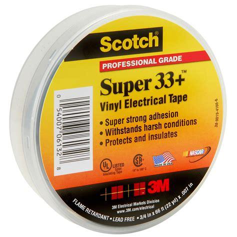 3m Scotch 33 Vinyl Electrical Isolasi Listrik 3 4 Inch 3m black electrical 33 3 4 x 66 new 70006982618