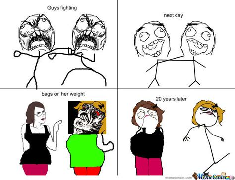 Girl Fight Meme - guys and girls fighting by louiseloll meme center