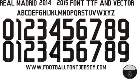 real madrid 2014 2015 font ttf football font jersey