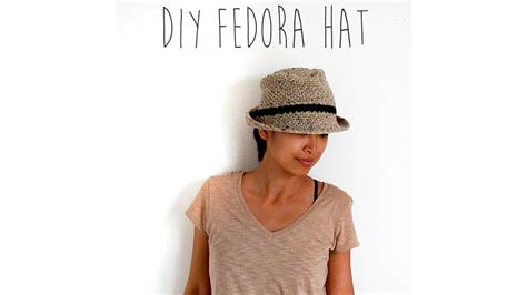 crochet tutorial fedora hat youtube
