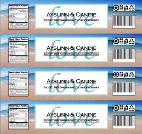 bottle label template search results for baby shower water bottle labels