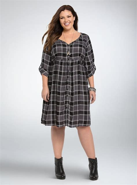 Plaid Dress Size 8t plaid button front shirt dress edgy plaid style shirts products and plus size