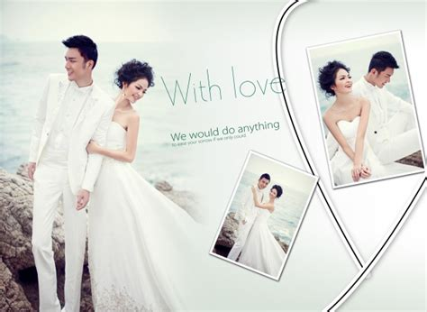 wedding photo album design template psd free vector