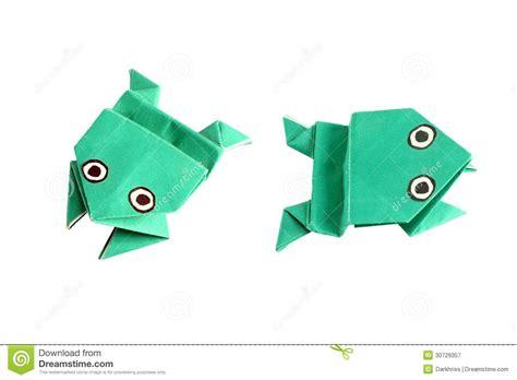 Origami W - origami 綣aba w dwa r 243 綣nych pozycjach fotografia royalty