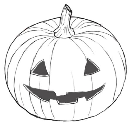 pumpkin sketches how to draw pumpkins