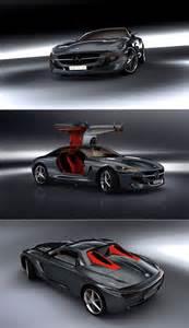 Mercedes With Gullwing Doors Sleek Gullwing Door Equipped Mercedes 300sl Im