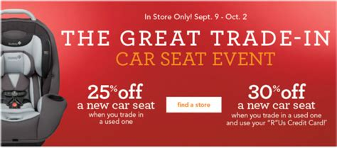 toys r us trade in 25 car seat trade in event at babies r us 9 9 10 2