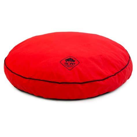 letto memory foam letto in memory foam rotondo tk pet simba rosso tiendanimal