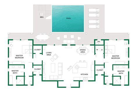 Main Level Floor Plans Sweet Surrender Villa