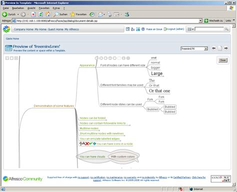 Techbits Integrating Freemind Documents Into Alfresco Freemind Templates