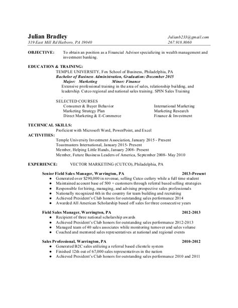 Financial Advisor Resume by Julian Bradley Financial Advisor Resume