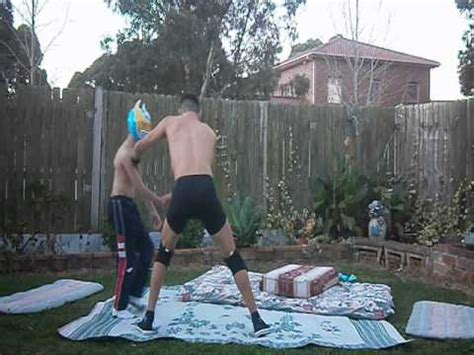 wwe backyard wrestling wwe sin cara vs dolph ziggler backyard wrestling youtube