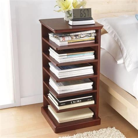 bedside table bookshelf home decor
