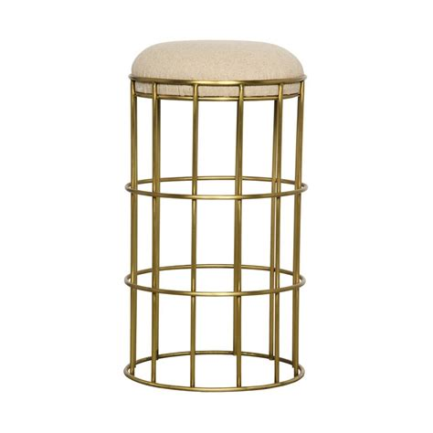 Gold Colored Stool by Noir Ryley Counter Stool Gold Finish