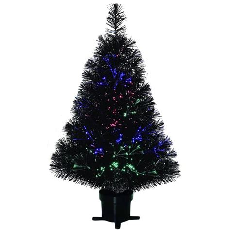 holiday time pre lit 32 quot fiber optic artificial christmas