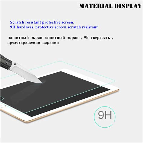 2017 9 7 Inch Screen Guard Tempered Glass New Antigores Kaca Np מוצר top quality 9h tempered glass for apple new 2017 9 7 inch screen protector