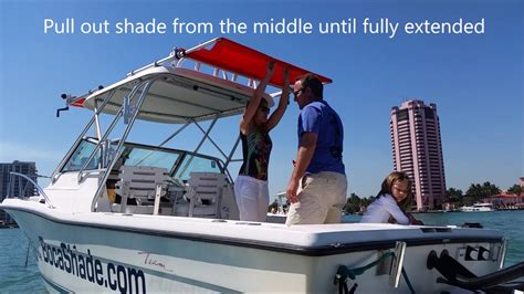 how to make a boat awning how to extend bocashade retractable boat awning youtube