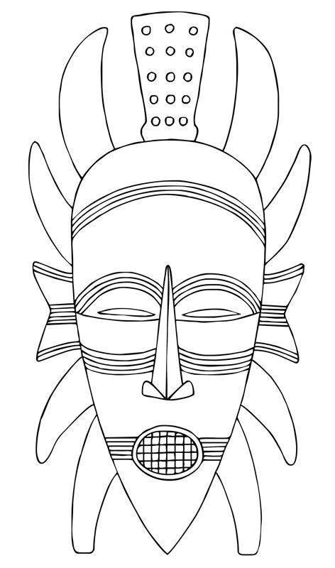 printable african mask template 95 best images about african masks and shields on