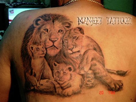 lion cub tattoo with lioness and cubs best artist in