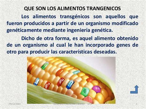 presentacion alimentos transgenicos